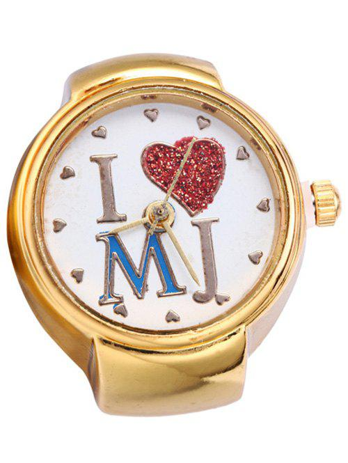 Chic Heart Ring Watch