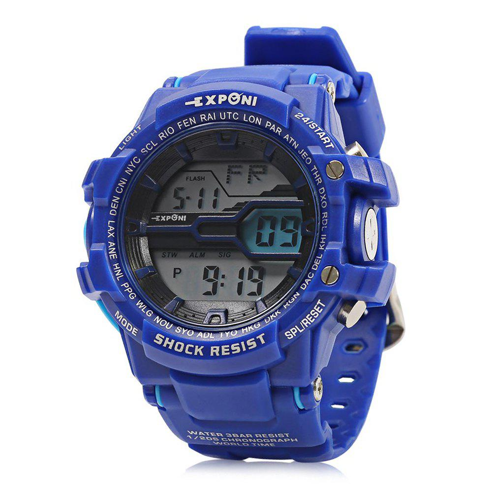 EXPONI 3205 Imported Movement Outdoor Sports Digital Watch, Deep blue