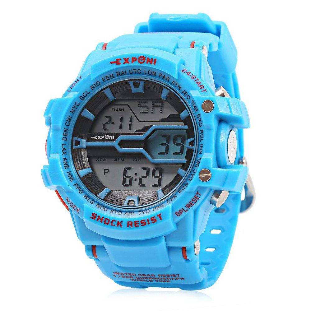 EXPONI 3205 Imported Movement Outdoor Sports Digital Watch, Blue