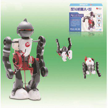 DIY Electric Tumbling Robot Kit 3-mode Science Assembly Toy for Children - COLORMIX COLORMIX