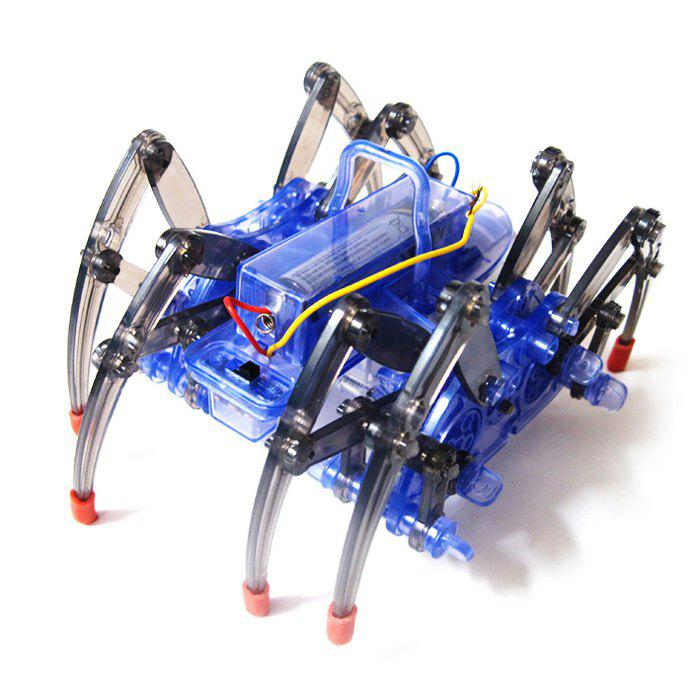 DIY Puzzle Electric Spider Robot Science Education Assembly Toy for Children electric spider robot toy diy educational intelligence development assembles kids children puzzle action toys kits