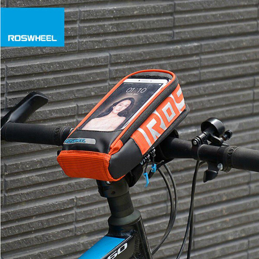 Roswheel 111272 Touch Screen Water Resistant 5.7 Inches Cycling Front BagHome<br><br><br>Color: ORANGE
