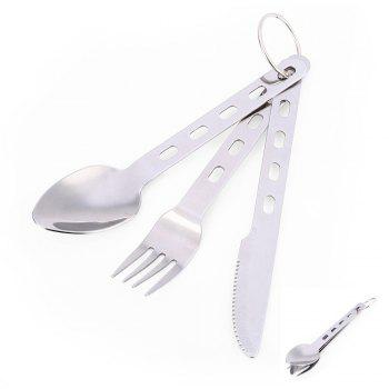 3-piece Stainless Steel Tableware with Ring Fork / Spoon / Knife