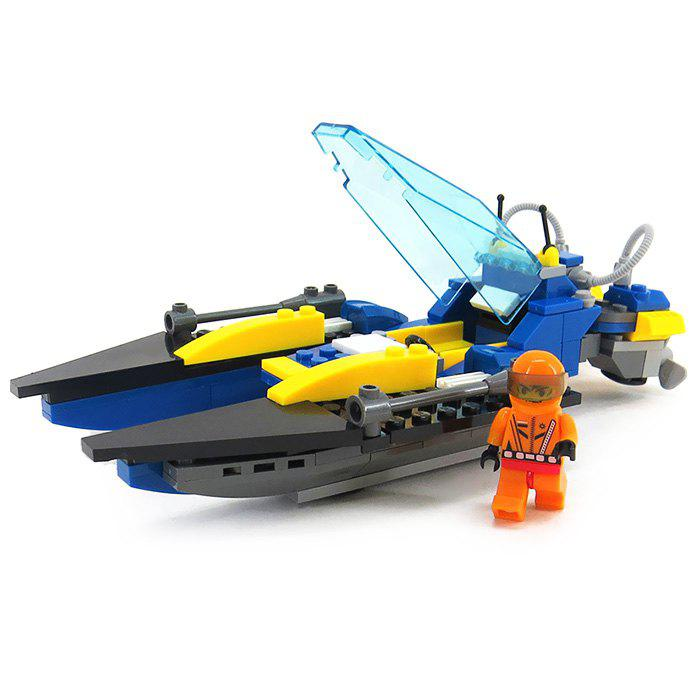 Speedboat Style Mini Building Block Educational Toy - 139pcs - COLORMIX
