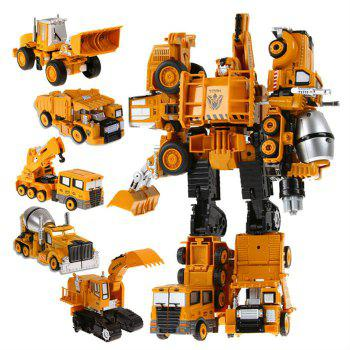 Transform Warrior 3D Robot Car Building Block Puzzle - COLORMIX STYLE 4