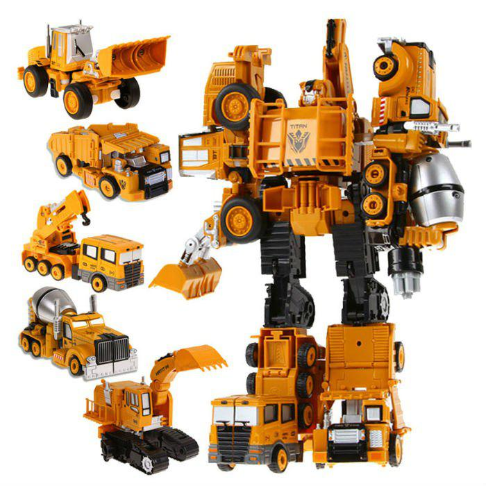 Transform Warrior 3D Robot Car Building Block Puzzle - COLORMIX STYLE 2