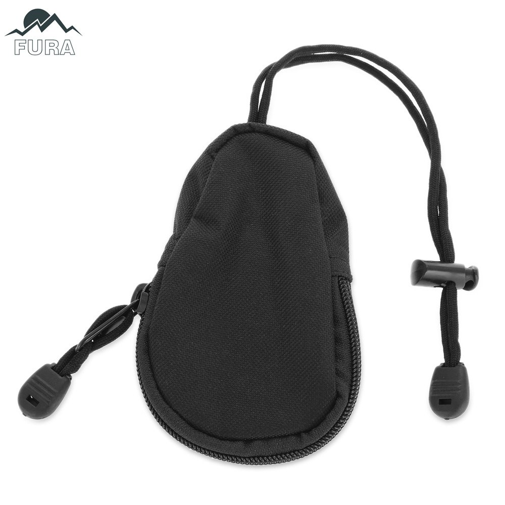 FURA Coin Purse Key Bag with Lanyard / ZipperHome<br><br><br>Color: BLACK
