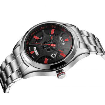 6.11 GD001 Photoelectric Conversion Male Watch Japan Movt Mineral Glass Calendar Display -  SILVER/RED