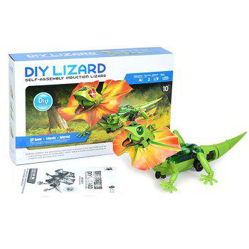 DIY Puzzle Infrared Sensor Electric Lizard Robot Science Education Assembly Toy for Children - COLORMIX COLORMIX