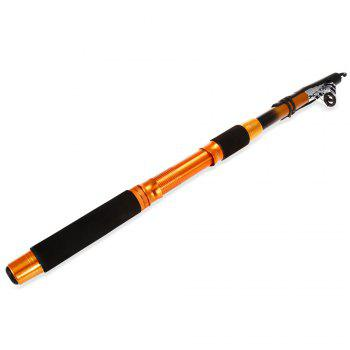 82.7 inch Portable Telescopic FRP Fishing Rod Fish Pole - YELLOW AND BLACK YELLOW/BLACK