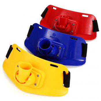 KL - 16 Portable ABS Fishing Rod Holder Waist Belly Belt for Fisherman - COLORMIX COLORMIX