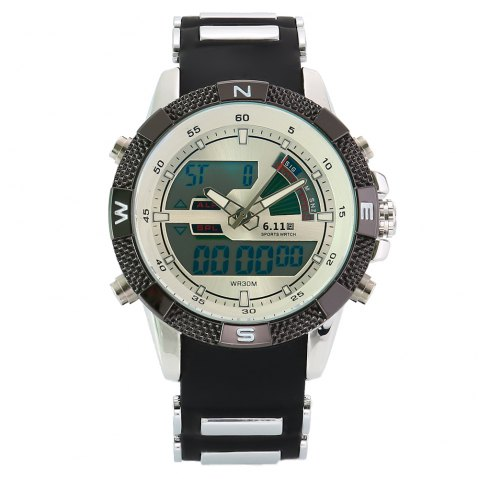 6.11 8156A Male Sports Digital Quartz Watch with Japan Movement - WHITE