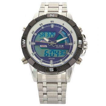 6.11 8156 Male Sports Digital Quartz Watch with Japan Movement
