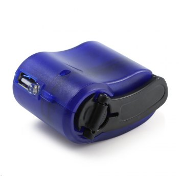 NO Portable Hand Manual USB Emergency Charger with Multiple USB Connector for Mobile Phone -  SAPPHIRE BLUE