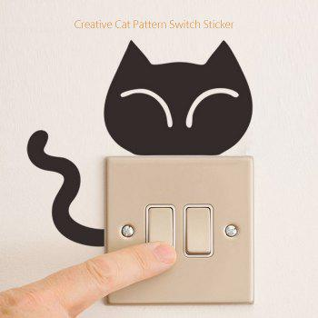 Cat Pattern Wall Switch Art Sticker Creative Home Decoration