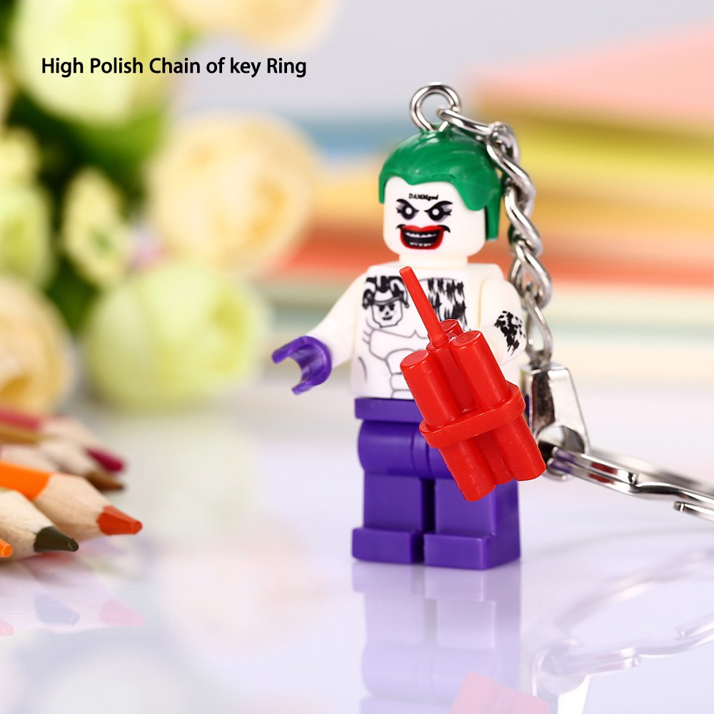 Alloy + Plastic Key Chain Hanging Pendant Clown Shape Keyring Movie Product for Decoration - COLORMIX