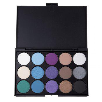 Natural 15 Colors Long Lasting Pearly Eyeshadow Palette Makeup Kit - 3