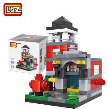 LOZ ABS Street View Architecture Building Block Educational Movie Product Kid Toy - 159pcs - COLORMIX STYLE4