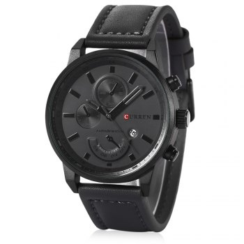 CURREN 8217 Casual Men Quartz Watch with Decorative Sub-dial