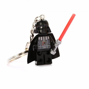 Alloy + Plastic Key Chain Hanging Pendant Warrior Shape Keyring Movie Product for Decoration - BLACK BLACK