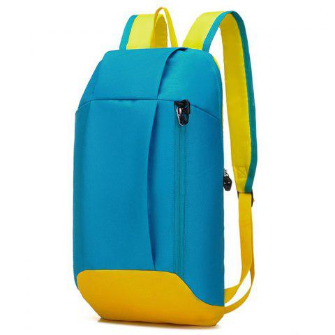 Water-resistant Nylon 10L Travel Ultra-light Leisure Backpack - AZURE