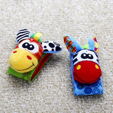 Baby Infant Wristband Soft Toy Wrist Rattle - COLORMIX