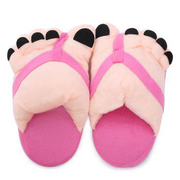 Soft Plush Cute Big Feet Pattern Novelty Slippers