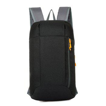 Water-resistant Nylon 10L Travel Ultra-light Leisure Backpack - BLACK