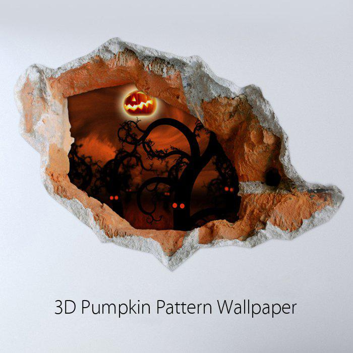 где купить  3D Pumpkin Pattern Crack Removable Wall Sticker Creative Halloween Gift  дешево