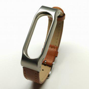 Leather Adorn Wristband for Xiaomi Miband 2
