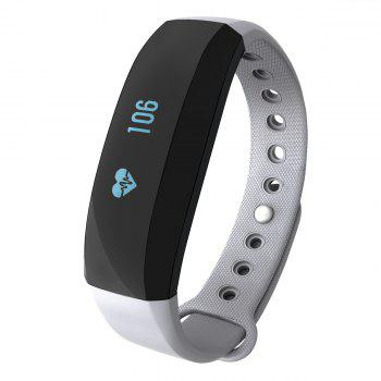 CUBOT V2 All-weather Heart Rate Monitor Smart Wristband with 30 Days Data Storing Function - GRAY GRAY