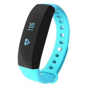CUBOT V2 All-weather Heart Rate Monitor Smart Wristband with 30 Days Data Storing Function - BLUE BLUE