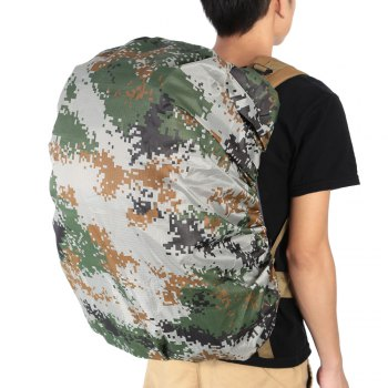Dustproof Water Resistant Backpack Cover Camping Accessories for 55 - 60L Bag