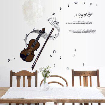 Violin Style Wall Sticker Home Appliances Decor Wall Decals