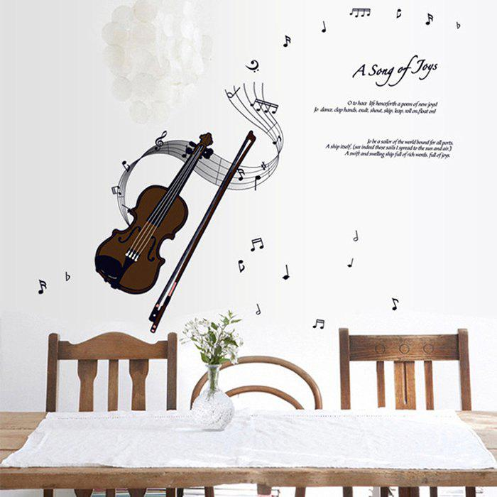 Violin Style Wall Sticker Home Appliances Decor Wall Decals  3d european style home decor wall sticker