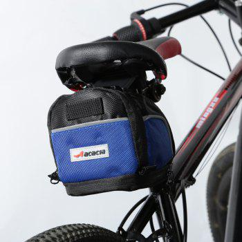 Acacia 04112 Extendable Bicycle Saddle Bag Bike Tail Pouch BLACK BLUE