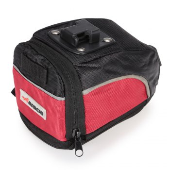 Acacia 04112 Sac de selle de vélo extensible Bike Tail Pouch - Noir Rouge