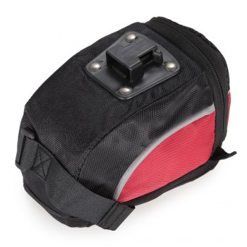 Acacia 04112 Extendable Bicycle Saddle Bag Bike Tail Pouch - BLACK RED