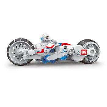DIY Puzzle Salt Water Powered Motorbike Science Education Assembly Toy for Children - COLORMIX