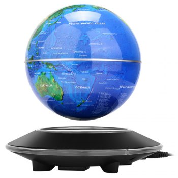 Novel Magnetic Levitation Floating Globe World Map Rotating Display Showcase Decoration