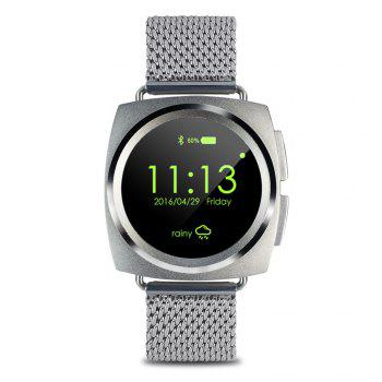A11 Bluetooth 4.0 Heart Rate Monitor Smart Wristband Calendar Speaker Microphone Phonebook Watch - STEEL BAND STEEL BAND
