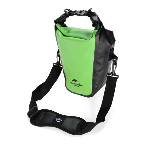 NatureHike PVC Tarpaulin Waterproof Camera Bag with Strap / Pads - GREEN