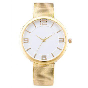 Soft Flat Surface Mesh Belt Table Quartz Watch
