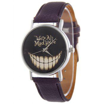Terrible Dent d'Halloween Quartz Montre de PU Cuir