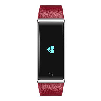 QS60 Heart Rate Measure Smart Wristband with Breath Training Pedometer - RED RED