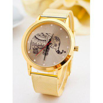 Bohemian Elephant Steel Band Quartz Watch