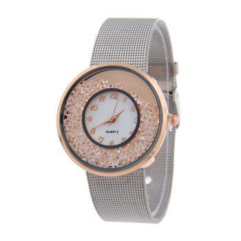 Natural Beads Circle Dial Plate Watch