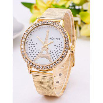 Dial Plate Rhinestone Eiffel Tower Watch
