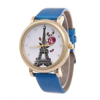 Eiffel Tower Butterfly Floral Rhinestone Watch