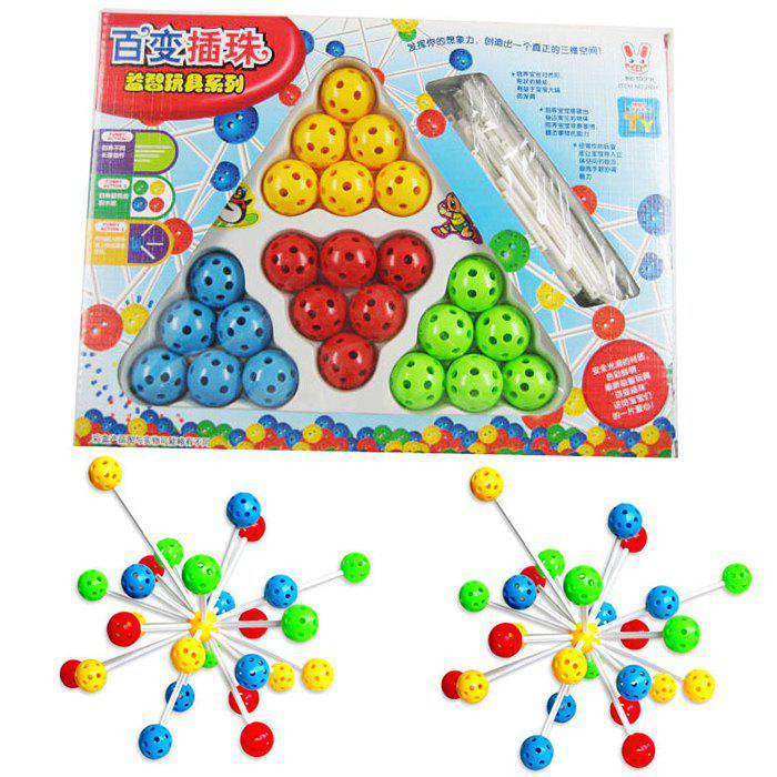 Educational Bead Assembly DIY Kit for KidsHome<br><br><br>Color: COLORMIX
